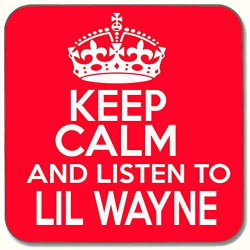 SMS TOGETHER Keep Calm & Listen To Lil Wayne Getränke Untersetzer