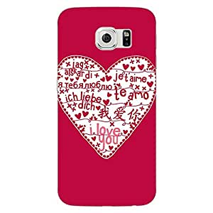 Jugaaduu Hearts Back Cover Case For Samsung S6