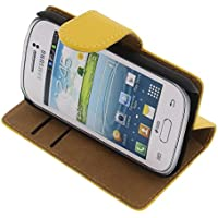 f4d84f88457 foto-kontor Funda para Samsung Galaxy Young 2 Estilo Libro Amarilla  Protectora