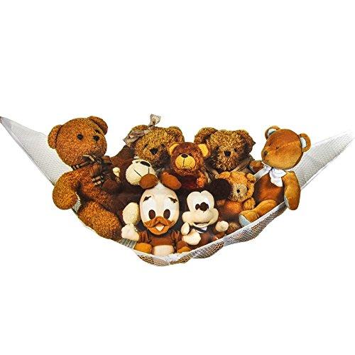 Nylon-teddys (Asab Kinder großes Spielzeug Hängematte Weich Teddy Aufbewahrung Lösung Baby Kinderzimmer Nylon Mesh Net Childs Schlafzimmer Ordentlich Saugnapf Wandhaken)