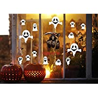 XT-Direct Ghost Stickers Grim Reaper Stickers Halloween Decoration Accessories, Halloween Party Supplies Made with Self-Adhesive PVC for Halloween Home Window Vampire Zombie Theme Party Decoration