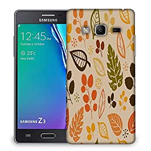 Snoogg Colorful Leaves Designer Protective Phone Back Case Cover For Samsung Galaxy Tizen T3