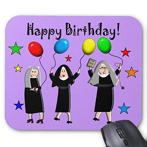 Nun Happy Birthday Cards & Gifts Mouse Pad