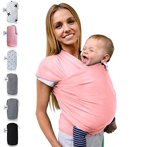 Fastique Kids Babytragetuch - elastisches Tragetuch für Früh- und Neugeborene Kleinkinder - inkl. Baby Wrap Carrier Anleitung - Farbe...