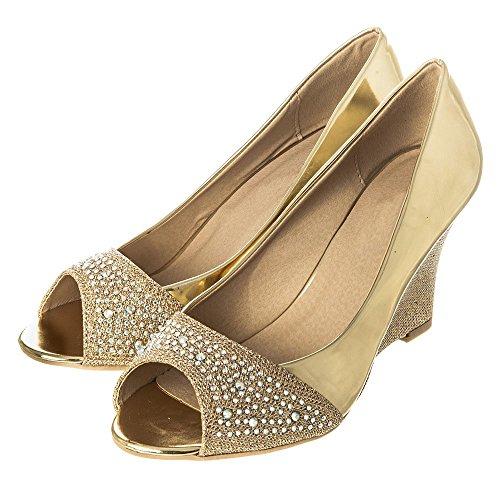 Footcandy Ballerine donna Gold