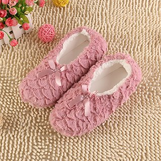 LEPAKSHI Pink, 8.5 : 2017 Fashion Plush Women Indoor Slippers Warm Soft Pink Grey Indoor/Home Female Slippers Shoes Plus Size Autumn Winter XP35