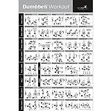 Dumbbell Poster mit Workout-Übungen – JETZT LAMINIERT – Krafttraining-Chart –