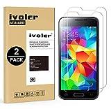 iVoler Kompatibel für Panzerglas Schutzfolie Samsung Galaxy S5 Mini [9H Härte] [Anti- Kratzer] [Bläschenfrei] [2.5D Runde Kante], [2 Stücke]