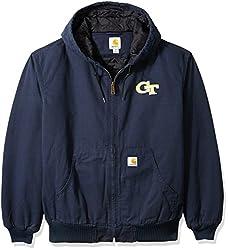 NCAA Georgia Tech Men's Ripstop Active Jacket, Large Tall