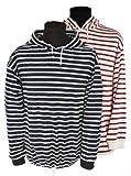 modAS Kapuzen Shirt, Damen 58 = Herren 64, mittelblau/weißgestreift