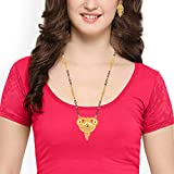 Mansiyaorange Gold Brass Long Chain Mangalsutra for Women, 1g