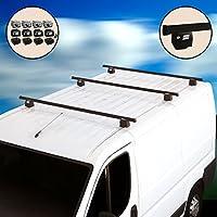 Barras portaequipajes con antirrobo Barro sistem para furgonetas Kit 4barras