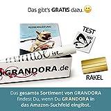 Grandora W5444 Wandtattoo Wandsticker Zitat Spruch Glaube an Wunder Liebe und Glück Flur Wohnzimmer Schlafzimmer schwarz (BxH) 120 x 47 cm
