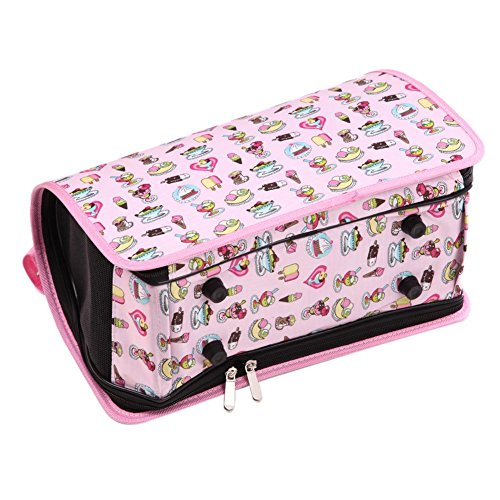 Macrorun Pet Puppy Dog Cat Box Carrier House Hundehütten Bag Pink (Pet Carrier Dog House)