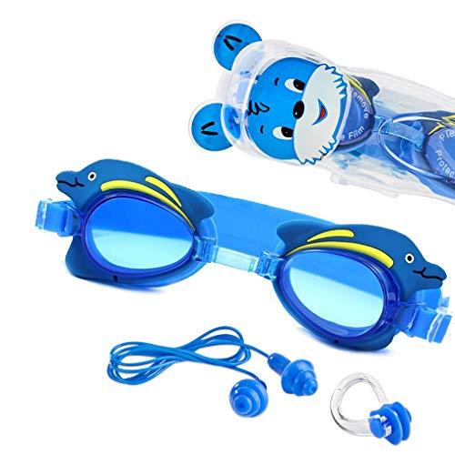 Sportastisch Top¹ Kinderschwimmbrille Swim Buddy Dolphin mit verstellbarem Nasensteg, Ohrstöpsel & Nasenklammer | Schwimmbrille Kinder 3-10 Jahren | GRATIS E-Book und bis zu 3 Jahre Garantie²