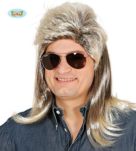 Guirca Grau Blonde Punk Perücke Kostüm Rockstar