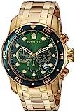 Invicta Pro Diver - 0075 Orologio da Polso, Cronografo, Uomo, Cinturino Acciaio Inossidabile, Oro