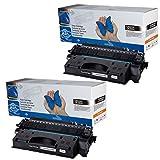 2x Toner kompatibel für HP CE505X (05X) LaserJet P2050 Series P2053D P2053DN P2053X P2054D P2054DN P2054X P2055 P2055D P2055DN P2055DTN P2055X P2056D P2056DN P2056X P2057D P2057DN P2057X