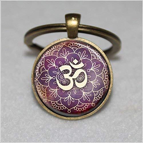 Baum des Lebens Schlüsselanhänger Yoga Om, Aum, Zen, Meditation, Buddhismus, Einzigartiger Schlüsselanhänger Geschenk