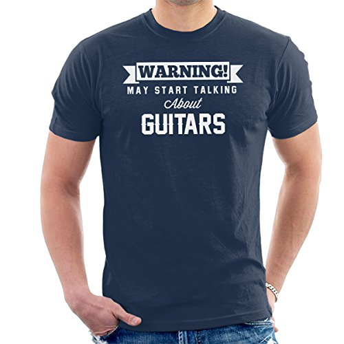 Warning May Start Talking About Guitars Men's T-Shirt -
