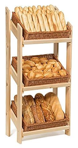 Prestige Wicker Retail Display Floor Stand with Baskets,