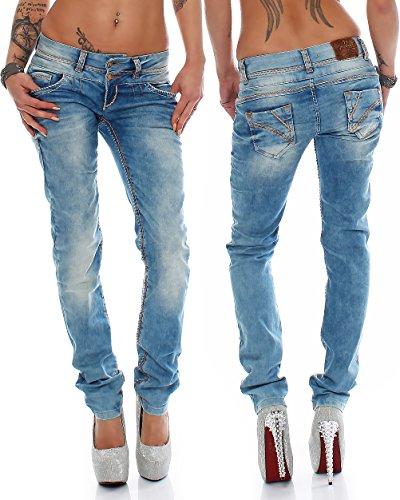Cipo Baxx Sexy Damen Jeans Stretch Röhre Hose Slim Stright Fit Skinny Hüftjeans Casual verschiedene Varianten Styles Modell-01