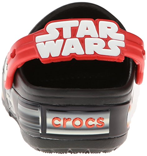 Crocs Lights Star Wars Vader, Sabots Garçon Noir (Black/Flame)