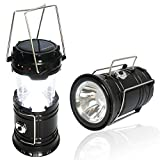 #5: LED Solar Emergency Light Lantern + USB Mobile Charging+Torch point, 2 Power Source Solar, Lithium Battery, Travel Camping Lantern - Multi Color