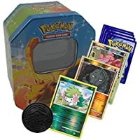 Pokemon Starter Collection 50 Cards including Holos & Rares in Tin