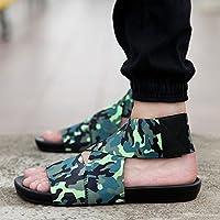 fankou Zapatillas Personalizadas de Verano Sandalias de Verano Masculino la Pareja Playa Marea y Ocio Cool Arrastre y,42,4 Negro-Verde