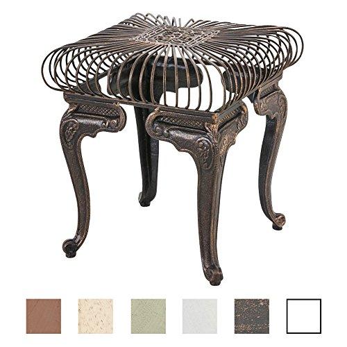 CLP Table de Jardin Carrée MELLE Ø 70 cm en Fer Forgé de Style Antique Nostalgique - Table d'Extérieur Taille 35 x 35 cm Idéale pour le Balcon ou la Terrasse - Table de Jardin de Différentes Couleurs bronze