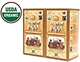 Pride Of India - Organic Energize Ayurveda Tea, 25 Count (2-Pack): BUY 1 GET 1 FREE (4 BOXES TOTAL)