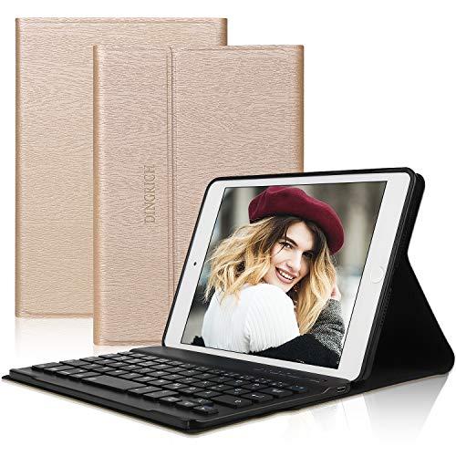 D DINGRICH Tastatur Hülle für ipad Mini 5, ipad Mini 4, ipad Mini 3, ipad Mini 2, ipad Mini 1- Smart Cover- Wireless Bluetooth- QWERTZ Tastatur- Magnetisch Schlaf/Wach- iPad 7.9 Inch Tastatur Hülle - Tastaturen Ipad Mini Für Das