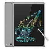 TECBOSS LCD Schreibtafel Bunter Bildschirm, löschbare elektronische Digitale Zeichenblock Doodle Board, Geschenk für Kinder Erwachsene Home School Office (grau, 11 Zoll)
