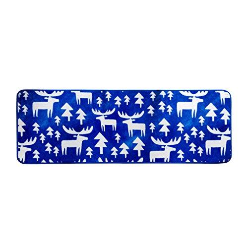 Unbekannt Teppich Moderner Scandinavian Blue Deer Nachttischteppich | Hauptschlafzimmer-Wohnzimmer-Sofa-Bett-Front-Wolldecke (größe : 50 * 150cm) (Deer Wolldecke)