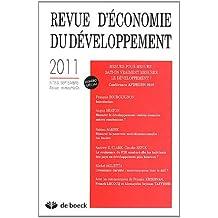 Revue d'économie du développement, N° 2-3, Septembre 20 : Mesure pour mesure : sait-on vraiment mesurer le développement ? : Conférence AFD/EUDN 2010
