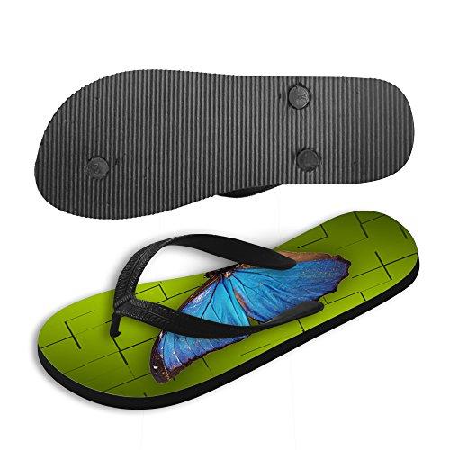Sandali Thikin Di Forma Di Farfalla Flip Stili Spiaggia Di Donne Blu Stampa Infradito flop Ragazza E Estate twStrqHp