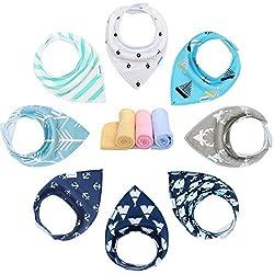 Yoofoss Baby Bandana Dribble Bibs & Drool Bibs For Boys & Girls (Pack Of 8)