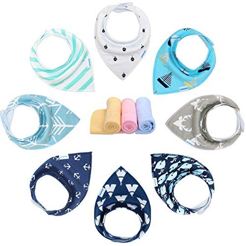 Baberos Bebe Baberos Bandanas para Bebés y Niños, 100% Algodón Orgánico de YOOFOSS (Niños)