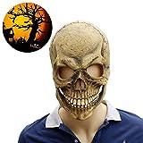 RISILAYS Máscara De Halloween, Latex Zombie Horror Grimace Máscara Scary Cricket Festival Carnaval Cosplay,Photocolor