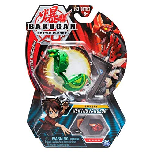 BAKUGAN 5cm Tall Action Figure and Trading Card - Ventus Fangzor