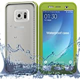 Coque Waterproof Samsung Galaxy S7 Edge, Findagift Water/Snow/Dust/Dirt Proof Full Cover-body Anti-Poussière Robuste Military Étanche Antipoussière Bumper Back Housse Etui pour Samsung Galaxy S7 Edge Smartphone (Vert Clair)