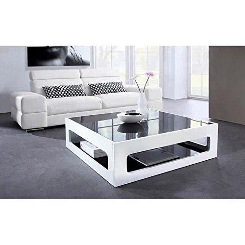 Générique Heaven Table Basse carrée 90x90cm laquée Blanc
