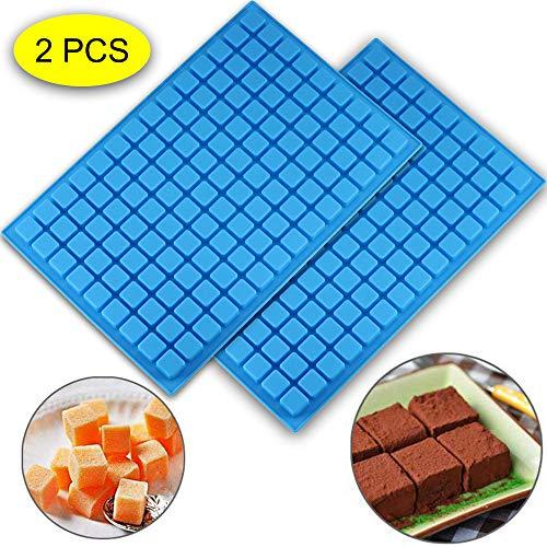 Silikonform für Schokolade, Gummi, Eiswürfel, Gelee, Trüffel, Pralinen, Karamell, Ganache, 2 Stück