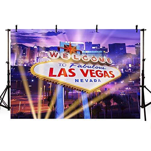 Fabulous Las Vegas Hintergrund glänzend City Scenery Hintergrund Casino-Themed Party Dekoration Kulissen Banner 17,8 x 152 cm ()