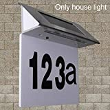 Dyda6, Targa per Porta a energia Solare, in Acciaio Inox, Impermeabile, con Luce a LED a energia Solare, per Porta e Numero civico, Lampada da Parete per Esterni, Come Mostrato, Taglia Libera