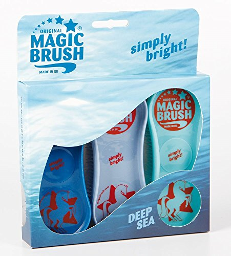 Magic Brush Pferdebüsten 3er Set im Design Deep See