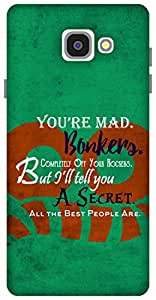 The Racoon Lean Bonkers hard plastic printed back case / cover for Samsung Galaxy A7 (2016)