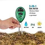PH Medidor de Suelo,3-EN-1 Kit d