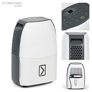TROTEC TTK 40 E Déshumidificateur d'air, Déshumidificateur Electrique, Déshumidificateur Portable, Absorbeur d'humidité, Déshumidification max. 14 l/j, pour 25 m² max., Hygrostat intégré